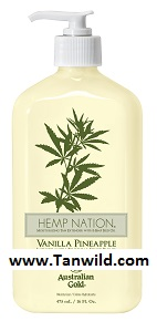 Hemp Nation Vanilla Pineapple Tan Extender Moisturizer